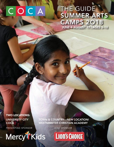 2018 COCA Summer Arts Camps Guide By