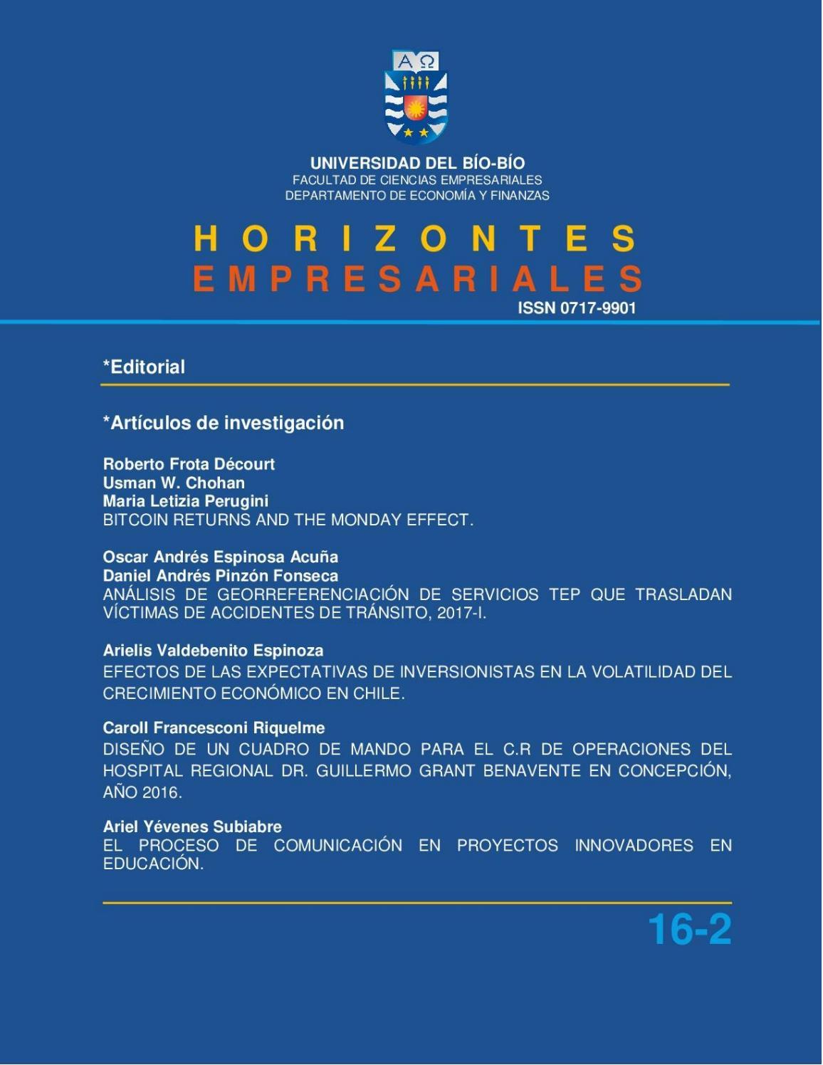 Edición Diciembre Vol. 16 Núm. 2 (2017) by Revista Horizontes ...