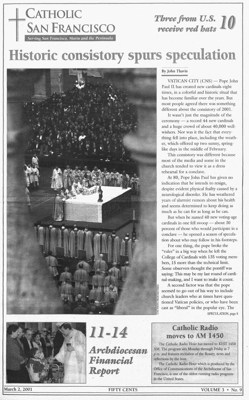 March 2 2001 By Catholic San Francisco