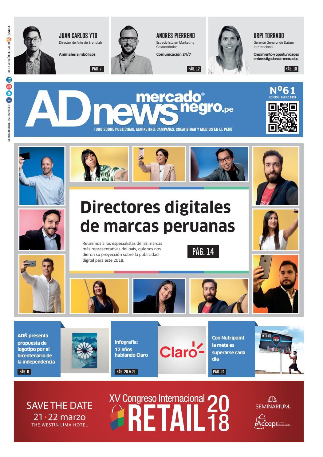 160c03a9e3394 AD News 61 - Enero 2018 by Mercado Negro Advertising - issuu