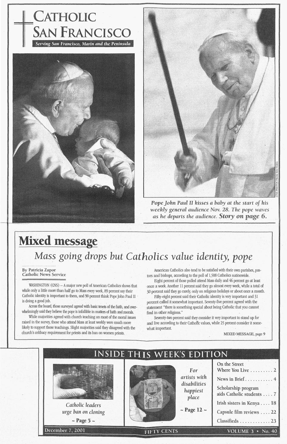 December 7, 2001 by Catholic San Francisco - issuu