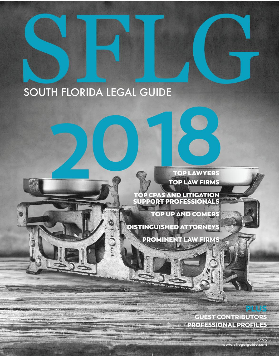 2018 South Florida Legal Guide By South Florida Legal Guide Issuu