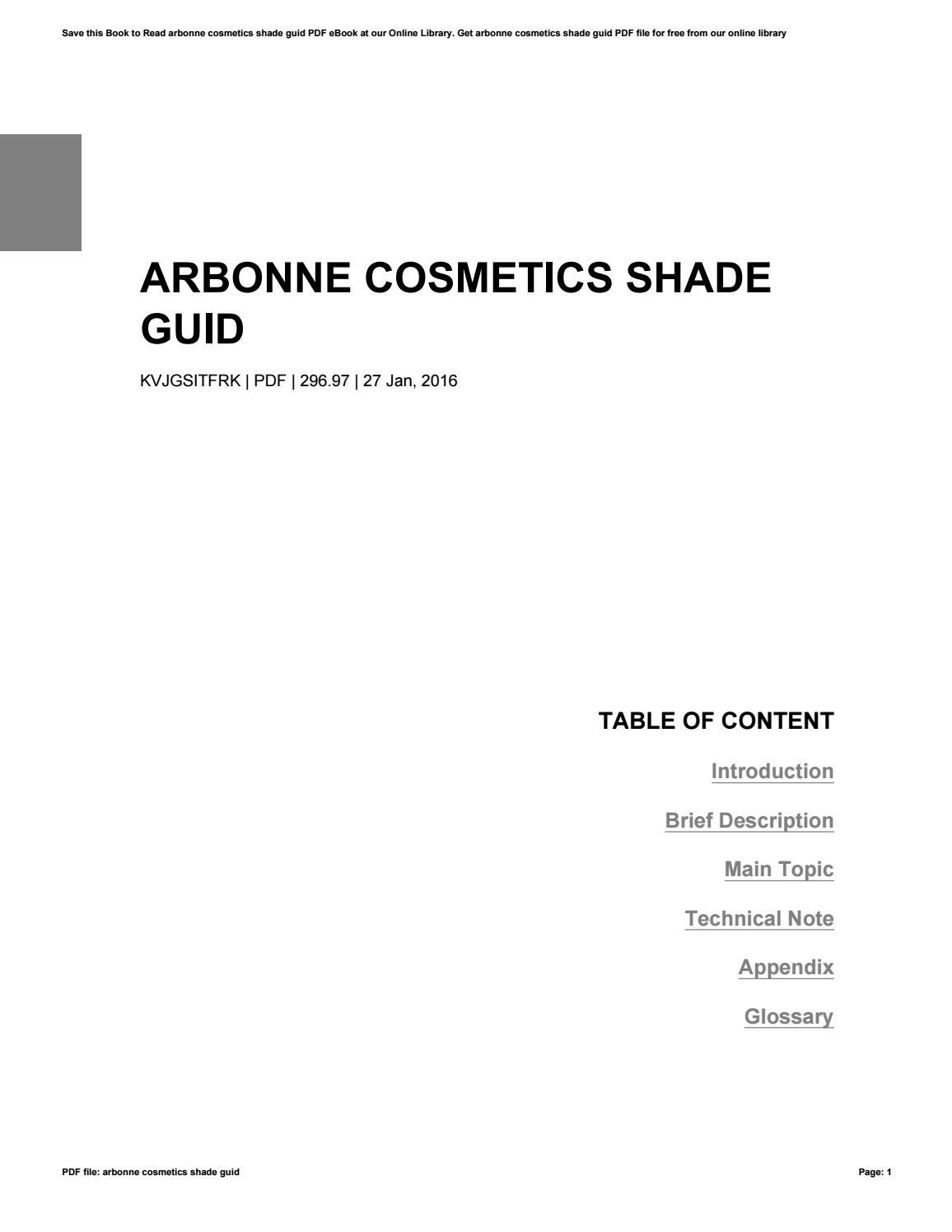 Introduction Of Cosmetics Pdf