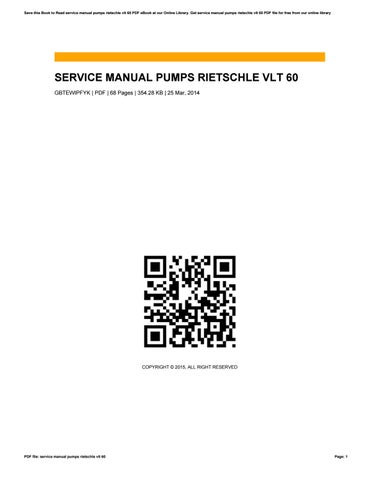 service manual pumps rietschle vlt 60 by rblx2 issuu rh issuu com