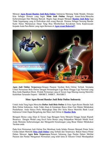 Agen Resmi Bandar Judi Bola Online Indonesia By Bolawin57 Issuu