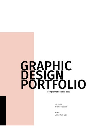 Graphic Design Portfolio Template By Adekfotografia Issuu