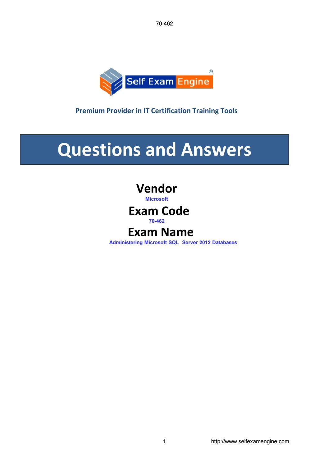 Exam 70 462 Administering Microsoft Sql Server 2012 Databases By