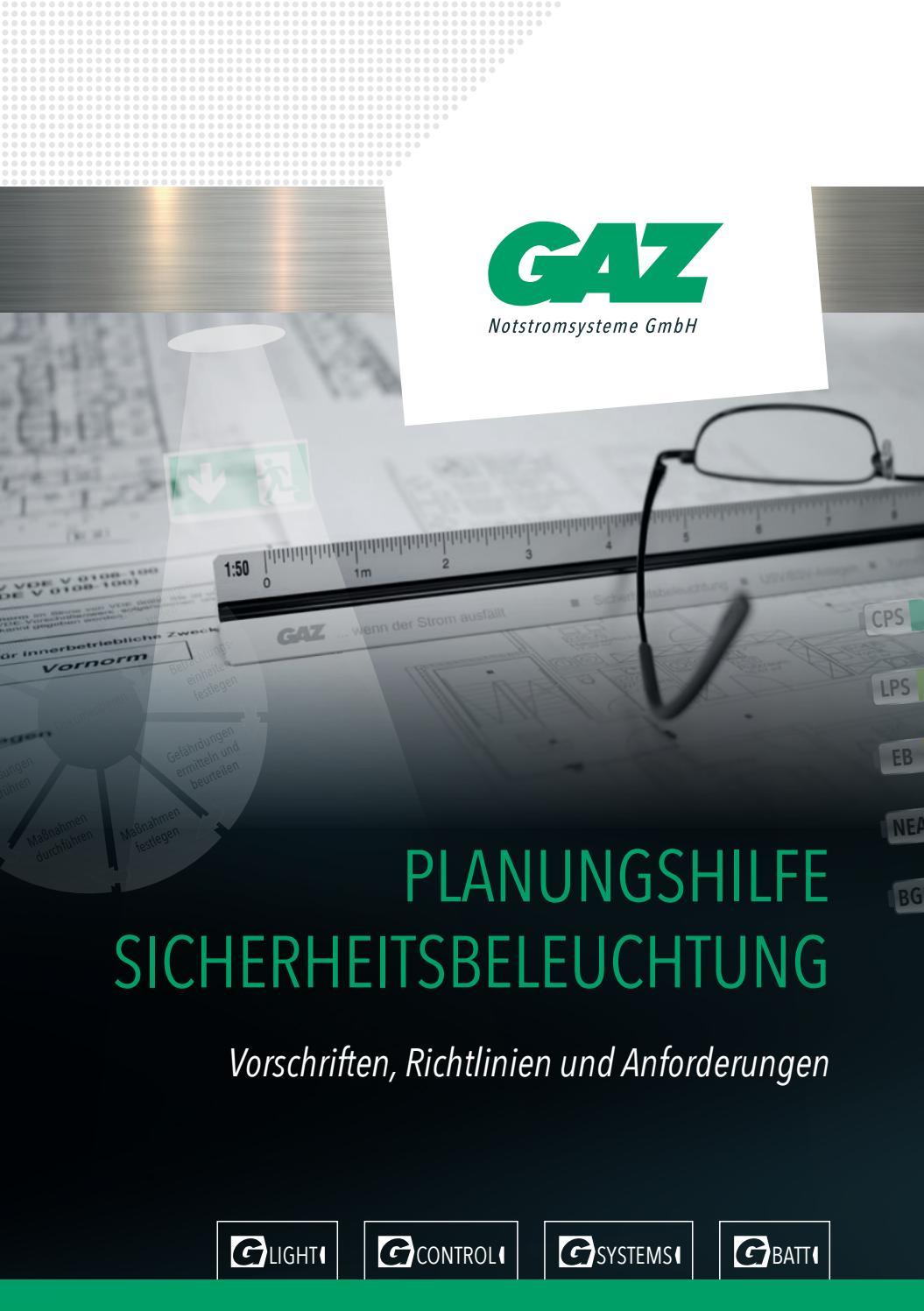 Planungshilfe Sicherheitsbeleuchtungsanlagen by GAZ Notstromsysteme ...