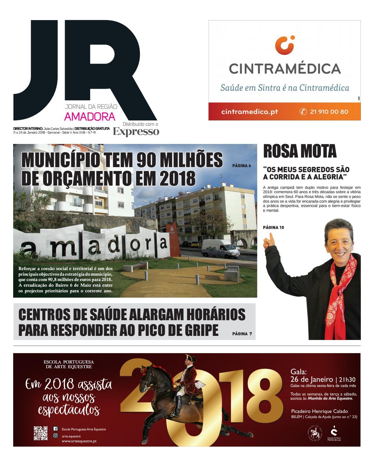 bb862b3ef Jornal da Região da Amadora 41 de 11 a 24 de Janeiro de 2018 by Jornal da  Região - issuu