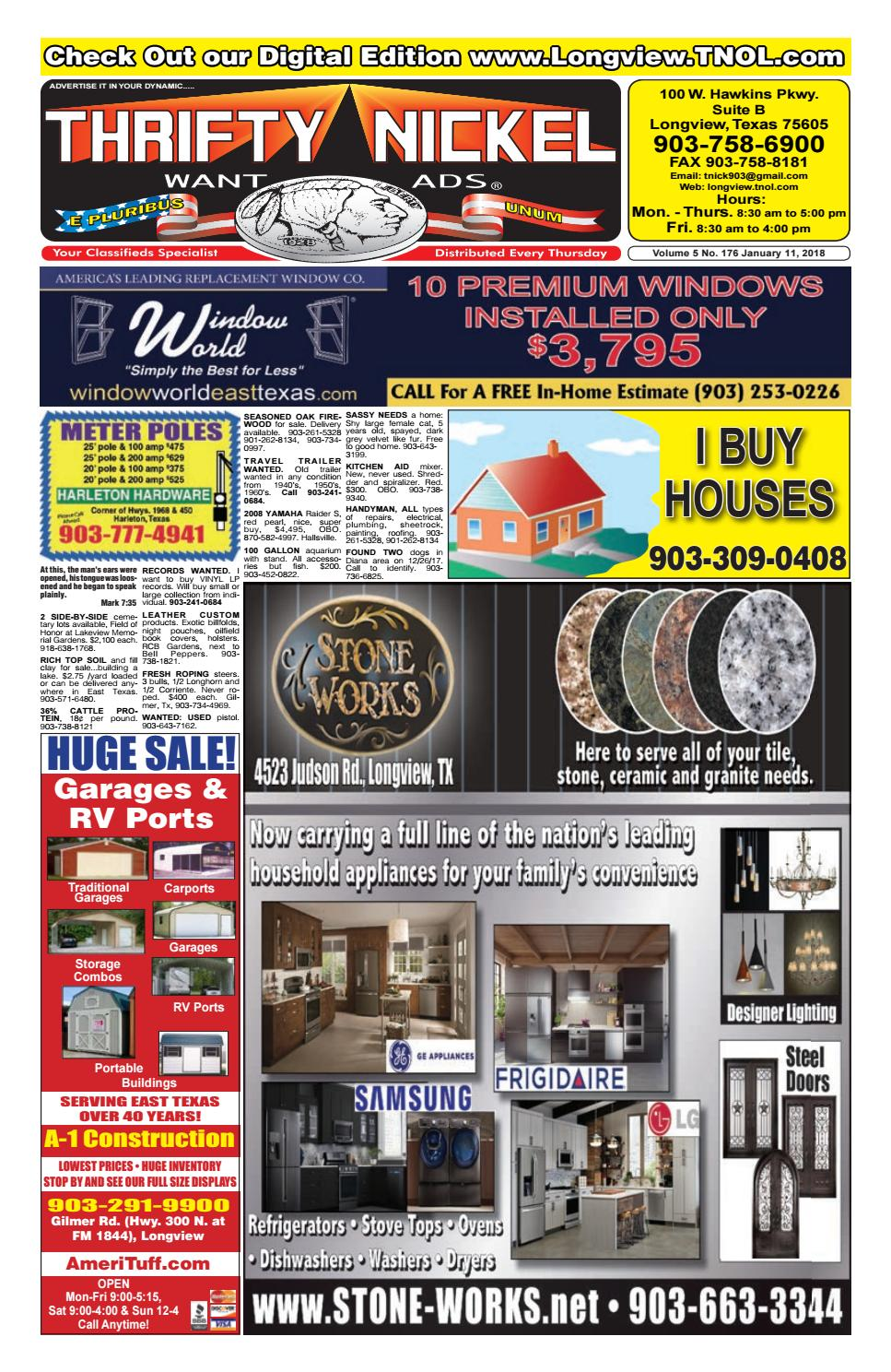 1 11 18 longview edition by American Classifieds/Thrifty Nickel - issuu