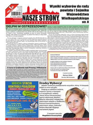 8b824f2a Nasze Strony Ostrzeszowskie 47/2014 by Nasze Strony Ostrzeszowskie ...