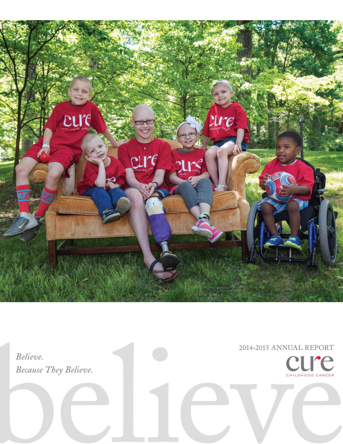 CURE Childhood Cancer 2014-2015 Annual Report by