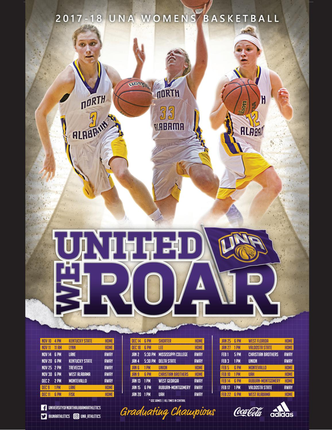 2017 18 Una Women S Basketball Media Guide By University Of