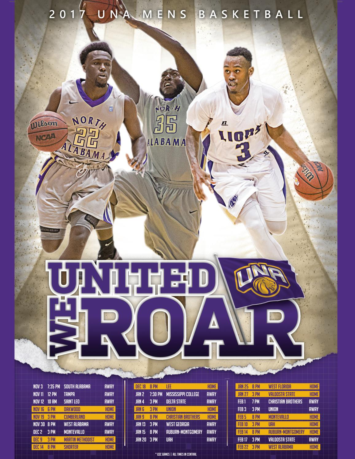 2017 18 Una Men S Basketball Media Guide By University Of
