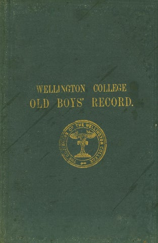 WCOB Record by Wellington College - issuu