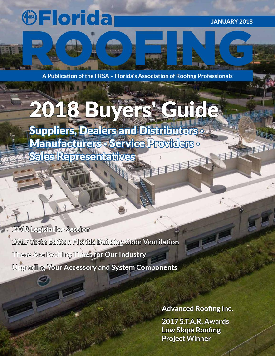 January 2018 by Florida Roofing Magazine - issuu