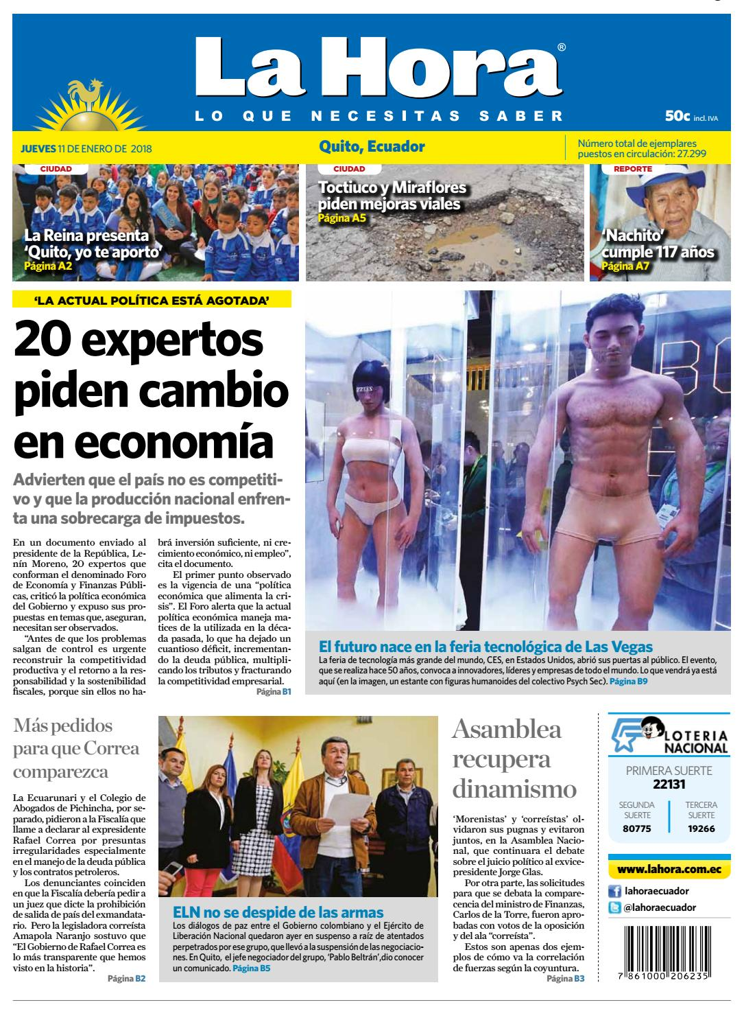 Quito 11 de enero de 2018 by Diario La Hora Ecuador - issuu 29becee4dce