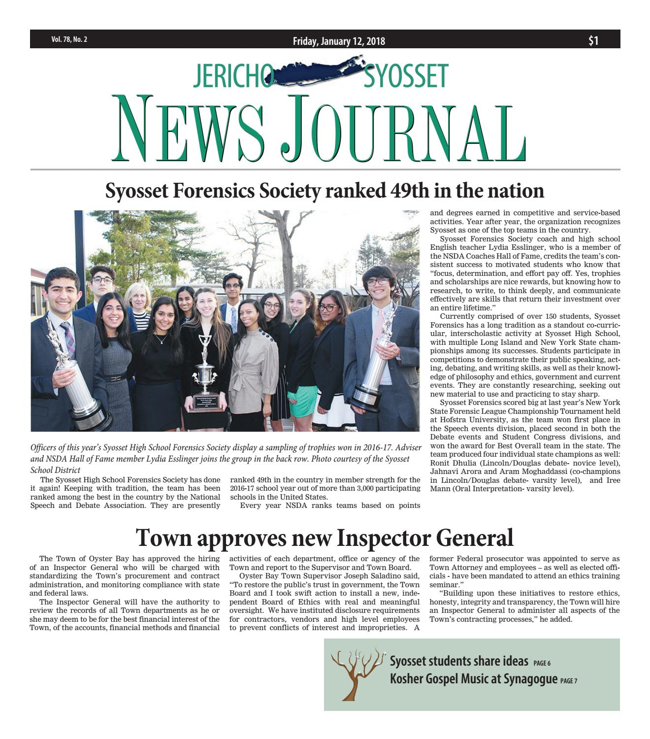Jericho syosset news journal 11218 by litmor publishing issuu fandeluxe Choice Image