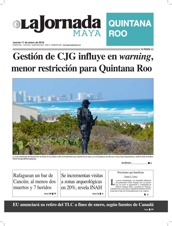 La jornada maya · Jueves 11 de enero de 2018 by La Jornada Maya - issuu
