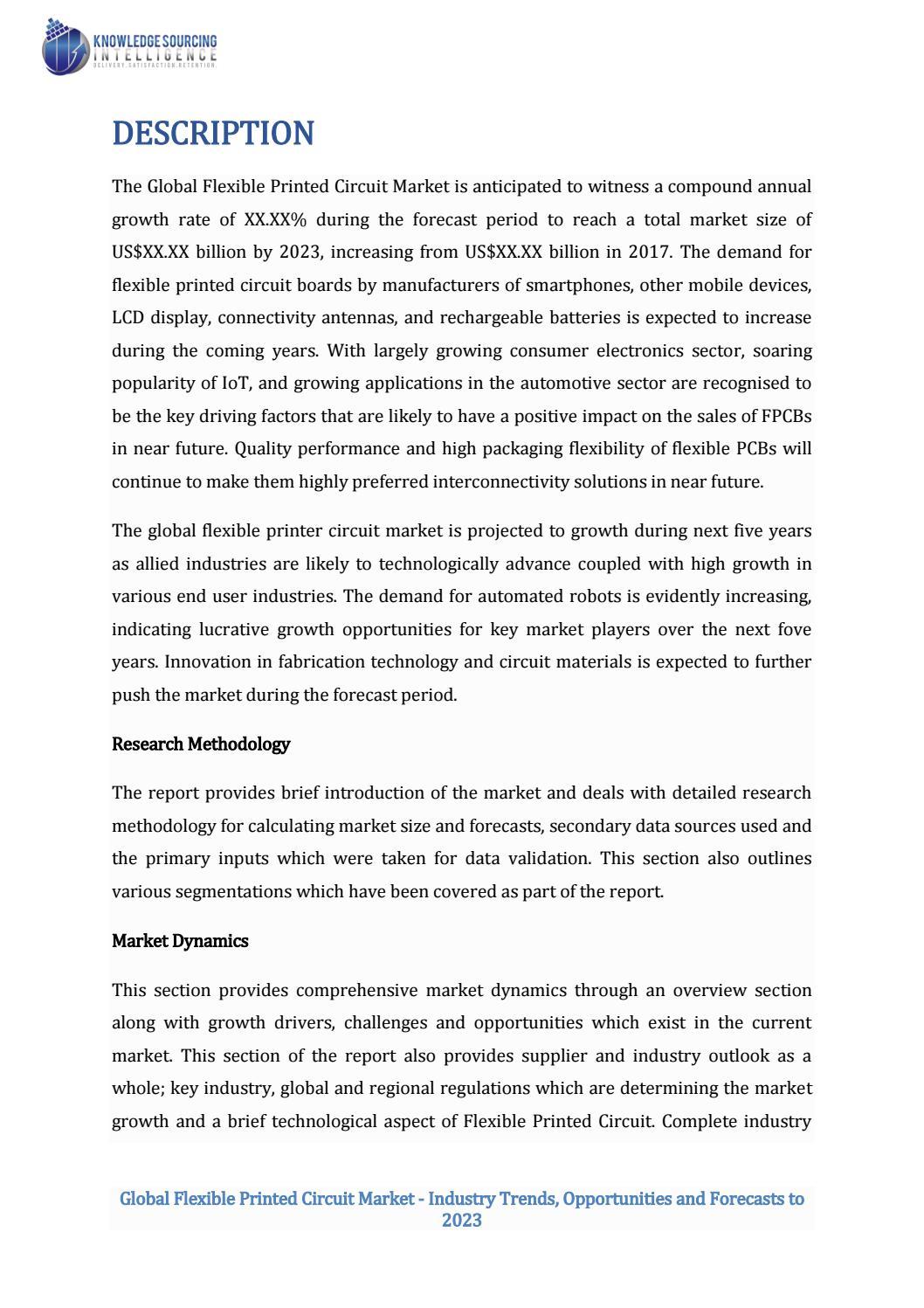 Global flexible printed circuit market by Pallavi Srivastava