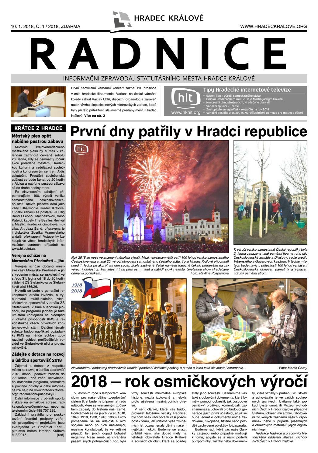 Radnice 01 2018 by Statutární město Hradec Kralové - issuu d028465d04