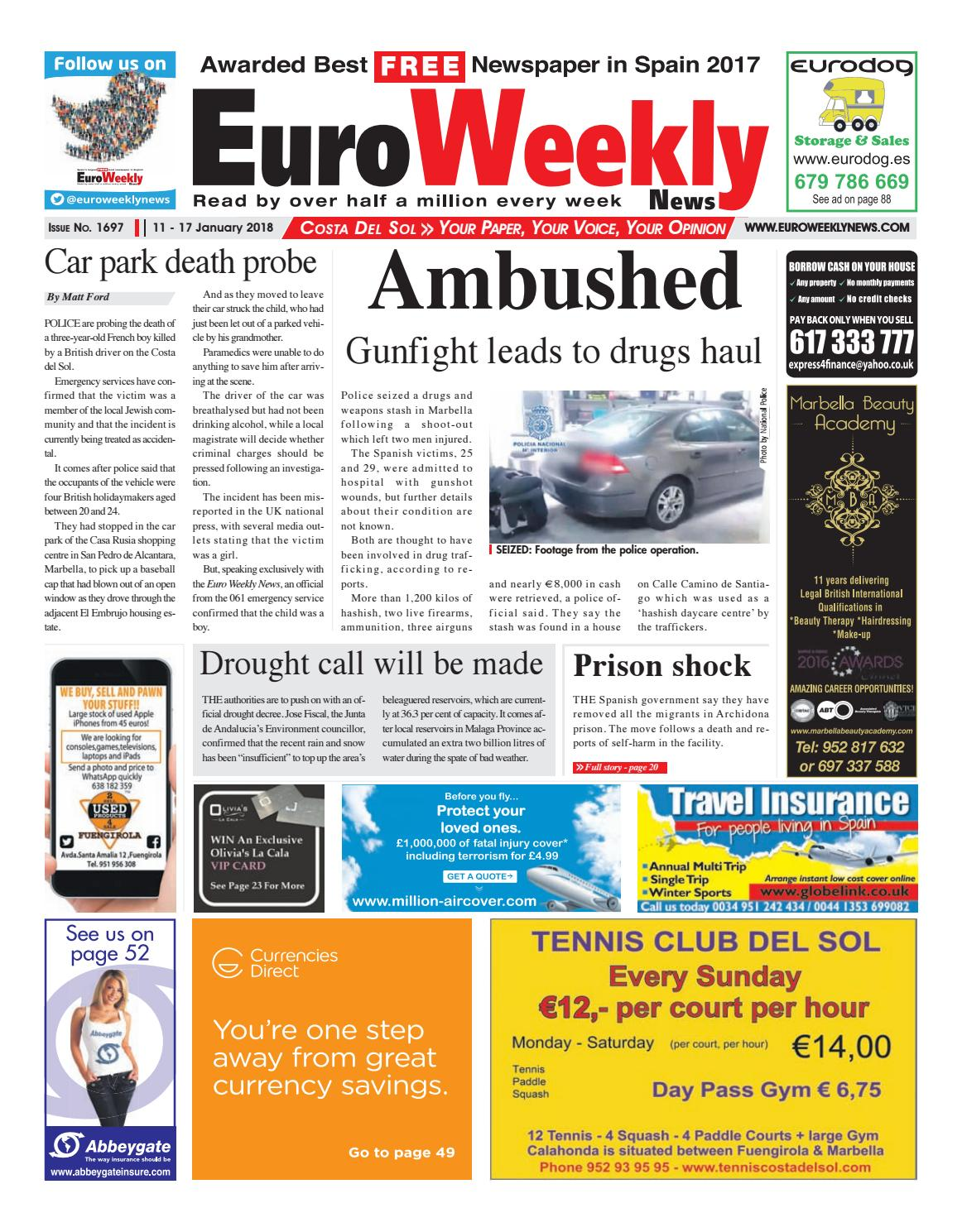 Euro Weekly News Costa Del Sol 11 17 Jan 2018 Issue 1697 By  # Muebles Lira Gold