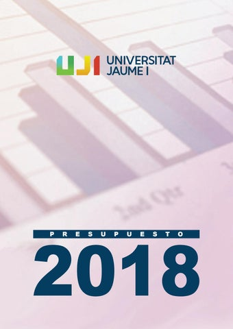 Presupuesto 2018. Universitat Jaume I by Universitat Jaume I - issuu 9d1944b01543