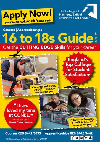 Courses For 16 18 Year Olds At The College Of Haringey Enfield And North East London By The College Of Haringey Enfield And North East London Issuu