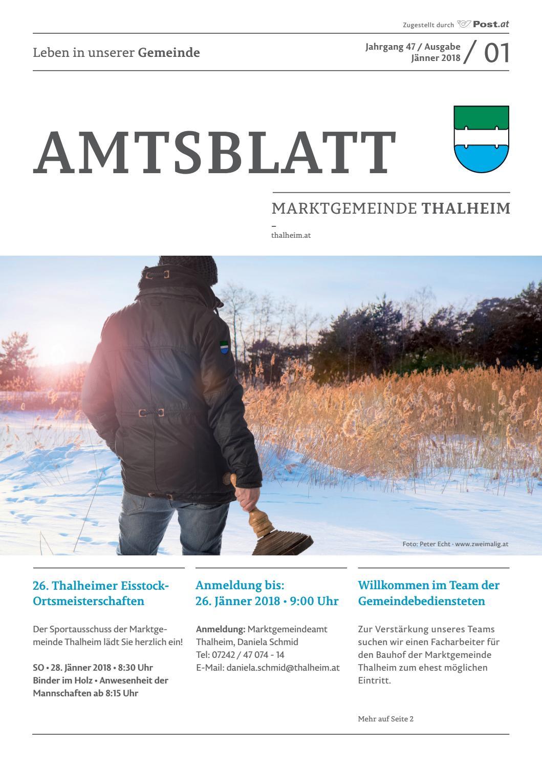Amtsblatt Thalheim 01 2018 by Marktgemeinde Thalheim bei