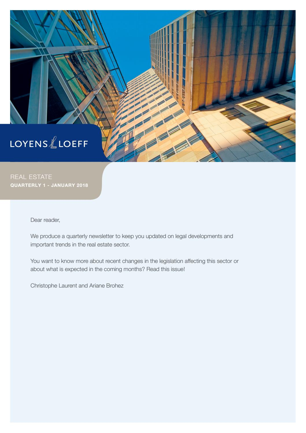 Loyens & Loeff Real Estate Flash back 2017 and flash forward 2018 by