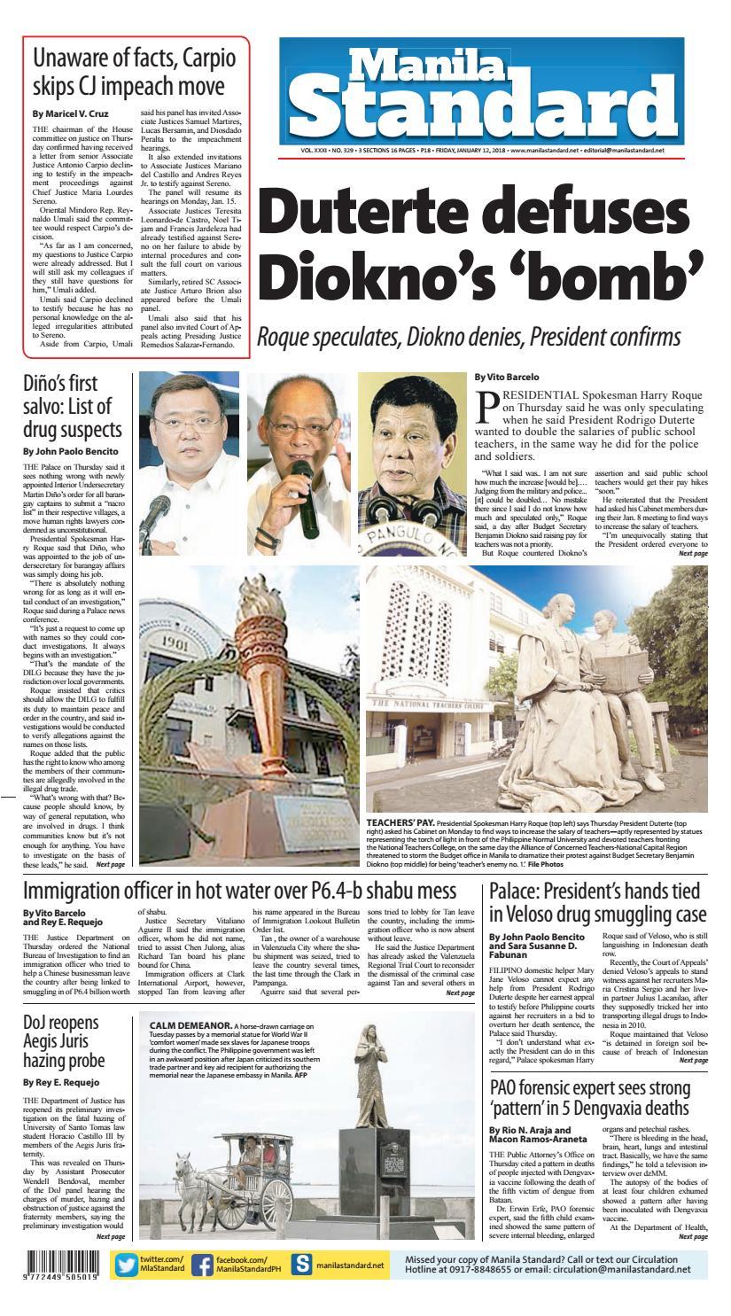 Manila Standard - 2018 January 12 - Friday by Manila Standard - issuu