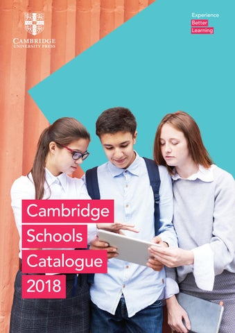2018 ELT EDU Cambridge University Press Schools Catalogue