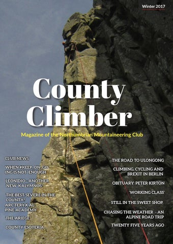 County Climber Winter 2018 by The Northumbrian Mountaineering Club