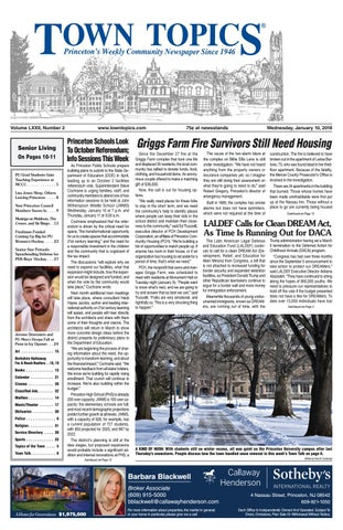 Town Topics Newspaper January 10 2018 By Witherspoon Media Group