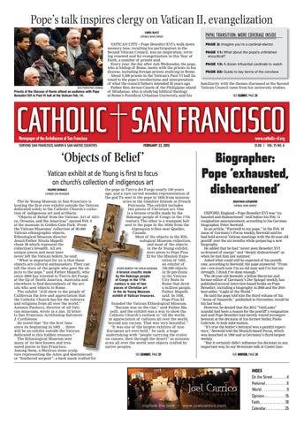 Pope's talk inspires clergy on Vatican II, evangelization CAROL GLATZ  CATHOLIC NEWS SERVICE