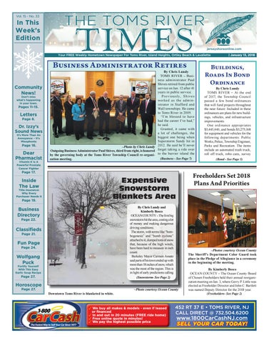2018-01-13 - The Toms River Times by Micromedia Publications