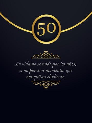 Tarjeta 50 Invitacion By Claudialara Bancovi Issuu