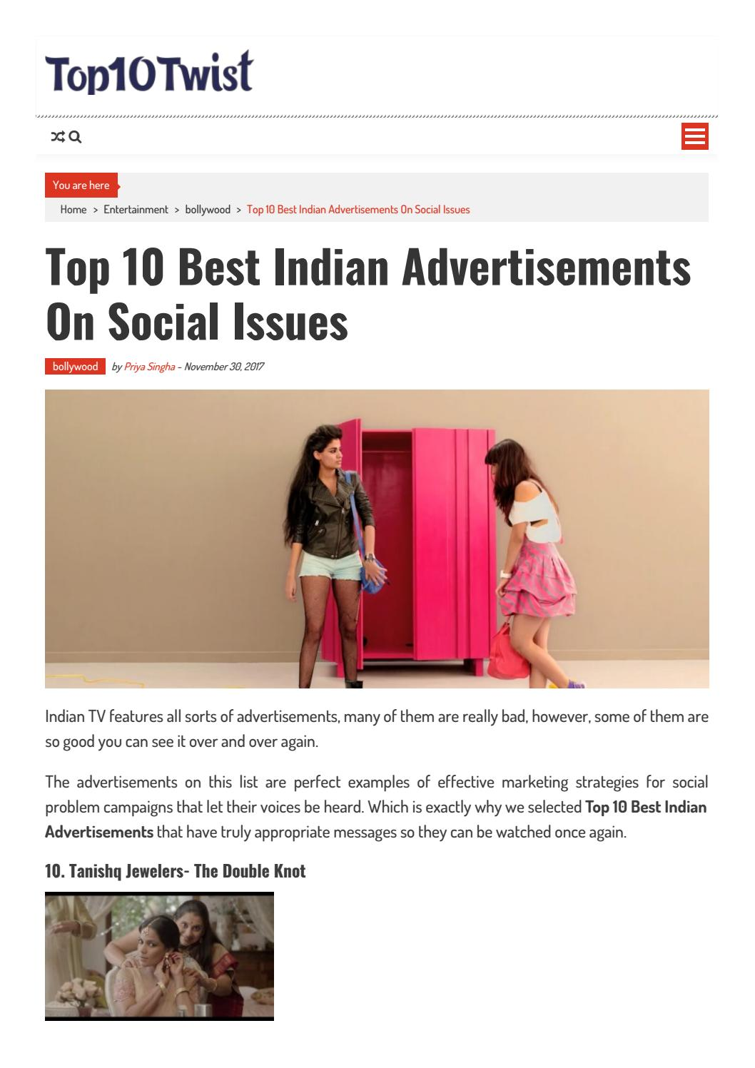 Top 10 best indian advertisements on social issues by