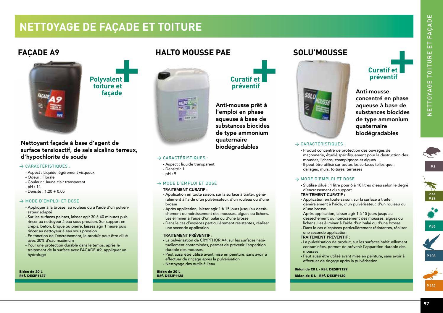 Eau De Javel Anti Mousse Terrasse hypochlorite de sodium nettoyage facade