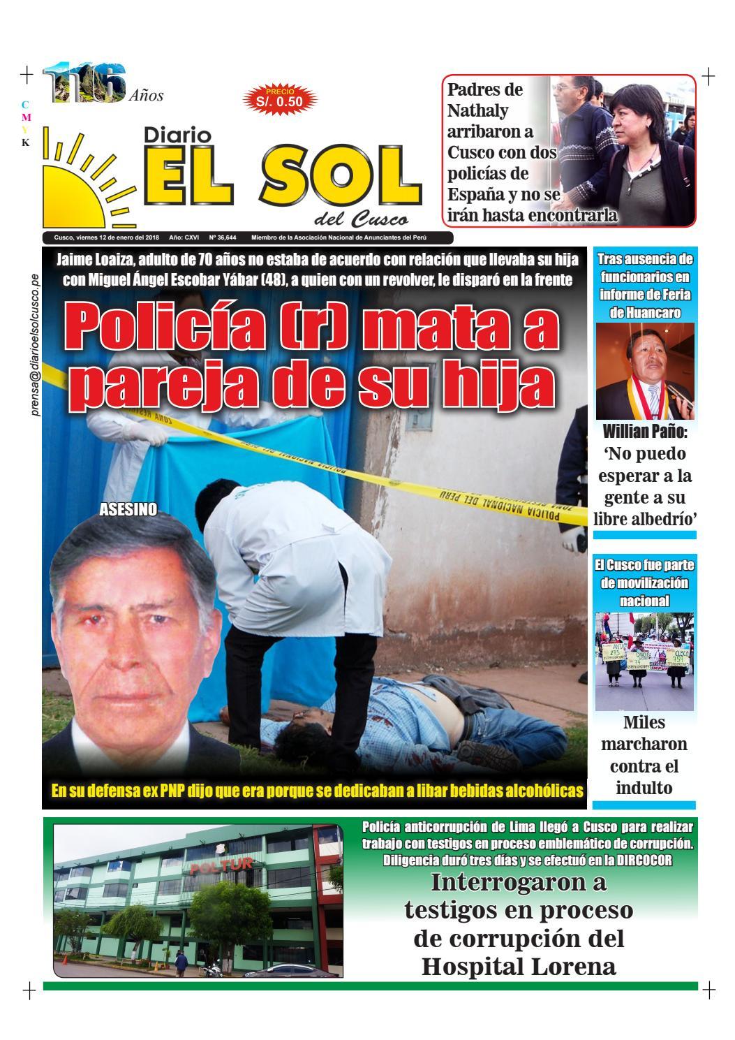 12|01|18 by Diario El Sol del Cusco - issuu