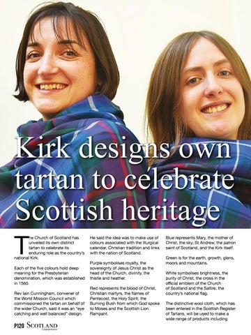 Page 120 of Kirk designs own tartan to celebrate Scottish heritage