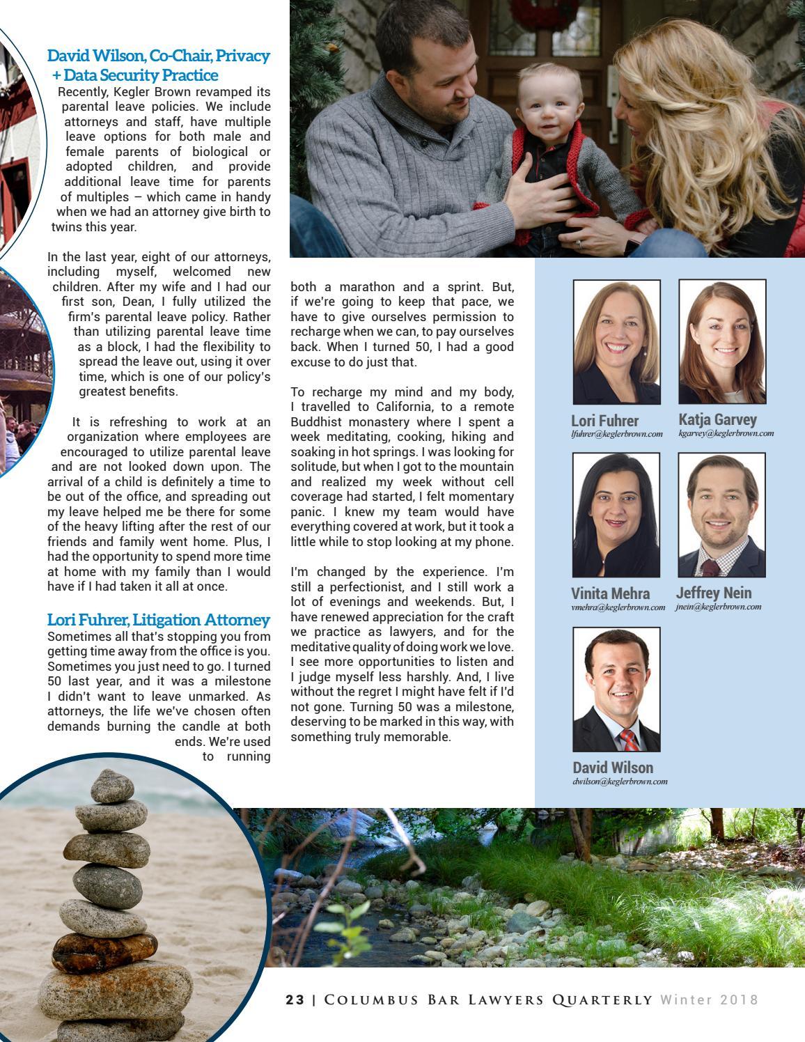 Columbus Bar Lawyers Quarterly Winter 2018 by Columbus Bar Lawyers