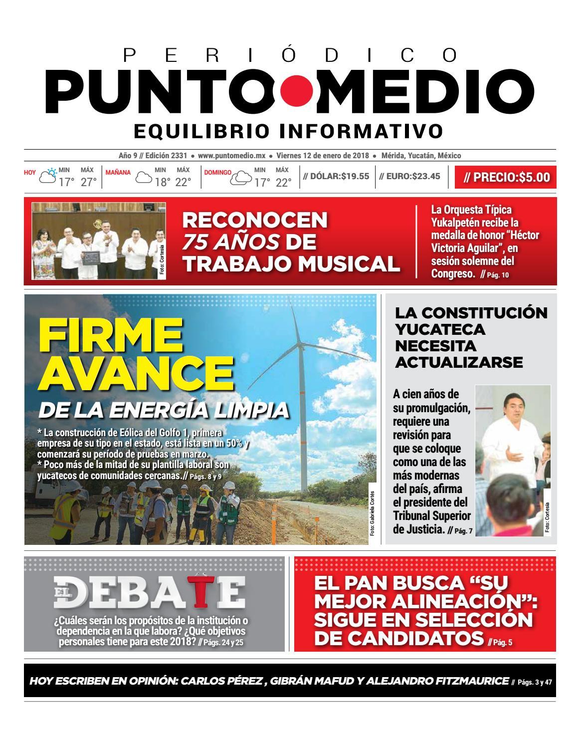 Edición impresa viernes 12 de enero de 2018 by Punto Medio - issuu c5545c13c403a