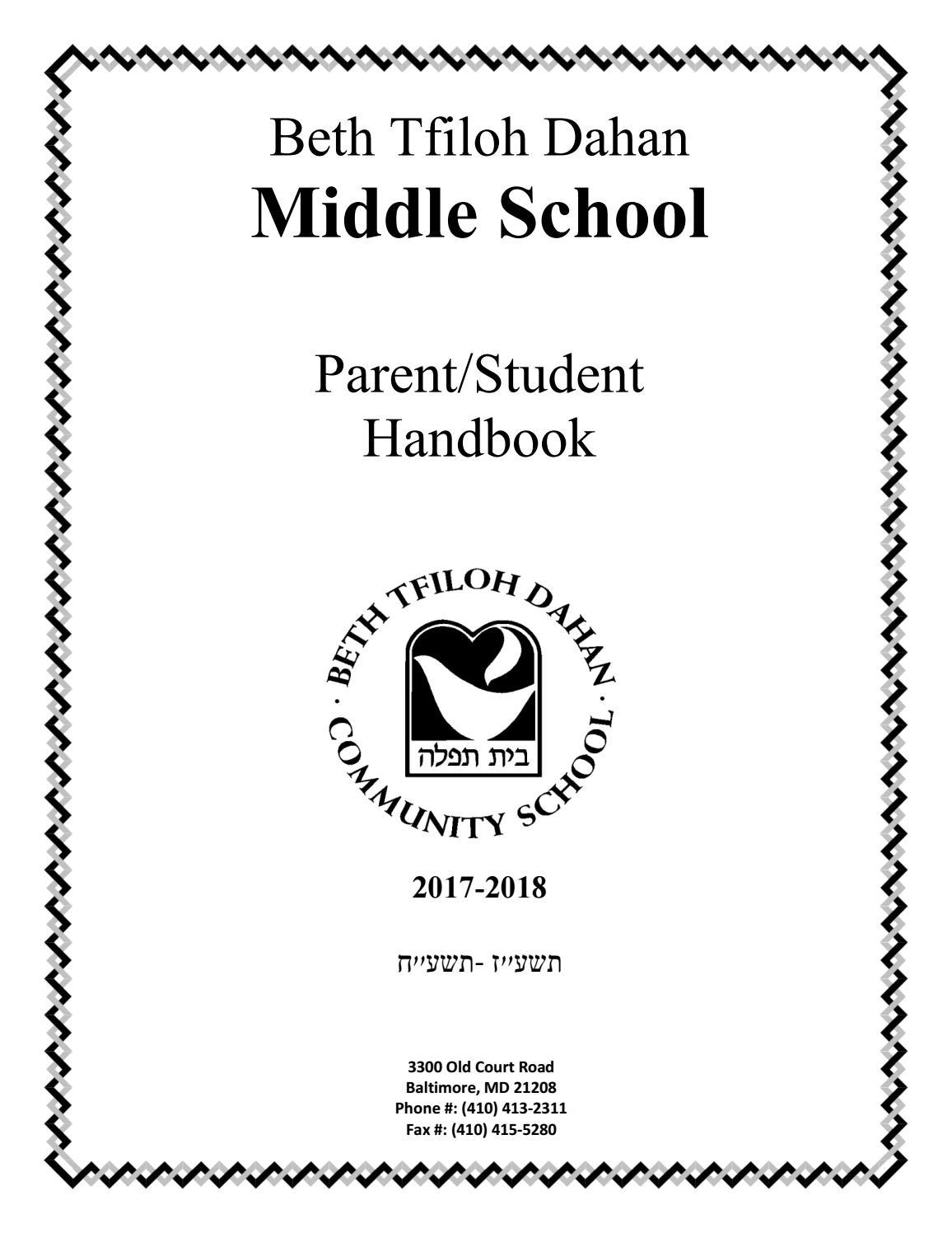 Bt Ms Student Parent Handbook 2017 18 By Beth Tfiloh Issuu Zipora Black Jeans