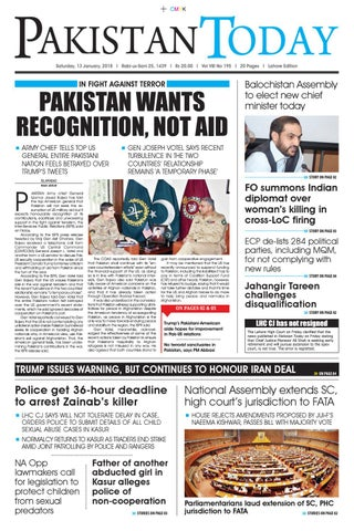 E paper pdf 13th january (lhr) by Pakistan Today - issuu
