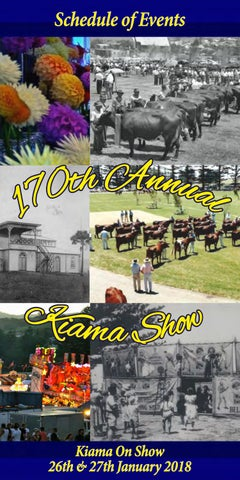 2018 kiama show schedule by kiama show society issuu page 1 schedule of events publicscrutiny Image collections