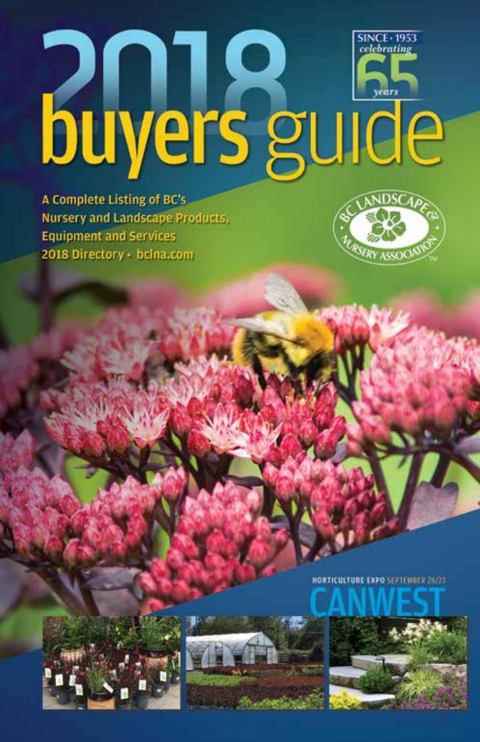 Bc Landscape Nursery Ociation Ers Guide Directory