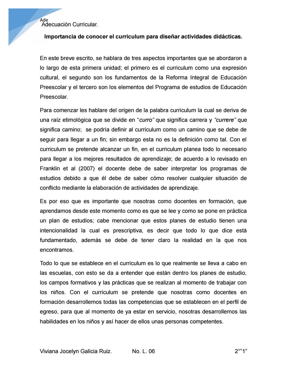 Evidencia 1. Curriculum by Viviana Galicia - issuu