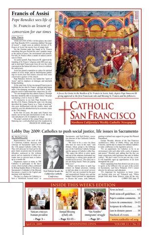 April 24 2009 By Catholic San Francisco Issuu