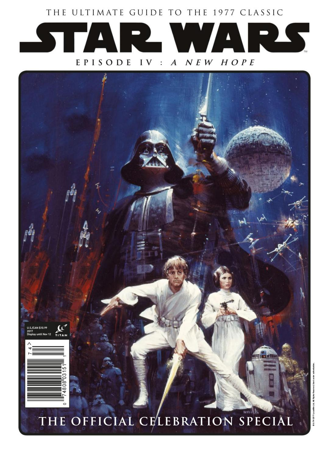 Star Wars Episode Iv A New Hope Official Celebration Special P2p By Comics1 Issuu